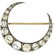 Charming Victorian Crescent Moon Brooch