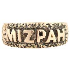 Edwardian Rose Gold Mizpah Ring c.1902