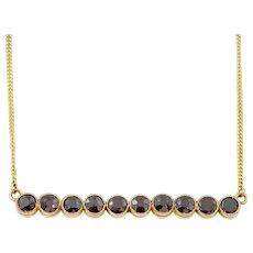 Victorian 9ct Gold Garnet Necklace c. 1850