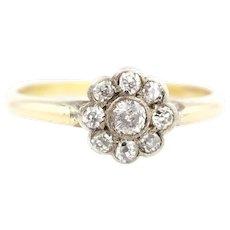 18ct Gold Art Deco Diamond Daisy Ring c.1920