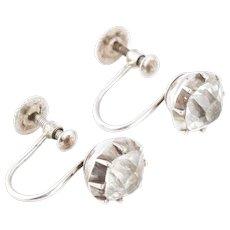 Georgian Paste Silver Earrings c.1800
