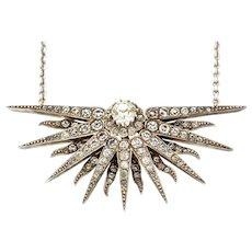 Victorian Paste Star Necklace (Integral Chain) c.1880
