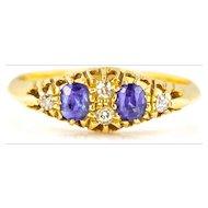 Edwardian Sapphire and Diamond Ring c.1908