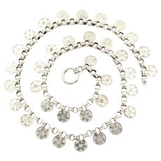Victorian Silver Book Chain Collar Necklace