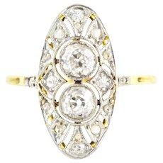 Exquisite 18ct Gold Art Deco Diamond Ring (1.01ct) c.1920