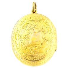 Antique Edwardian 9ct Gold Locket c.1900