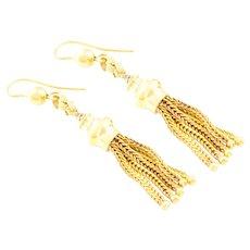 Victorian 9ct Gold Tassel Earrings