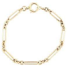 Victorian 9ct Gold Chain Link Bracelet - 6.1g