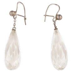 Art Deco Rock Crystal Drop Earrings c.1930