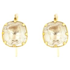 18ct Gold Georgian Paste Earrings