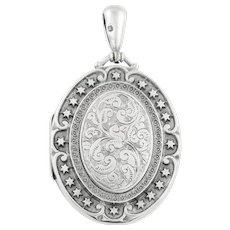 Large Silver Victorian Aesthetic Locket c.1880