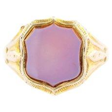 9ct Gold Antique Carnelian Signet Ring c.1850