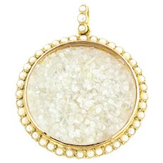 Edwardian 9ct Gold and Pearl Shaker Locket with Rough Diamonds