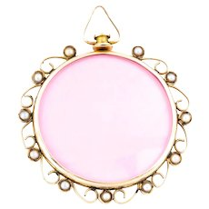 Edwardian 9ct Rose Gold and Pearl Locket
