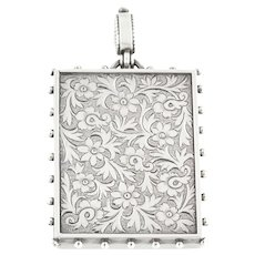 Victorian Aesthetic Silver Rectangular Locket