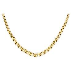 "9ct Gold Victorian Belcher Chain Necklace 17"""