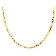 "Antique 9ct Gold Chain Necklace 17.7"""
