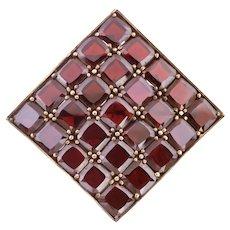 Art Deco Garnet Brooch