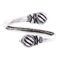 Sterling Silver Victorian Bypass Bangle