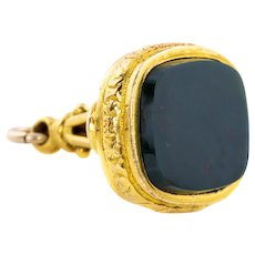 Victorian 9ct Gold cased Bloodstone Fob Pendant