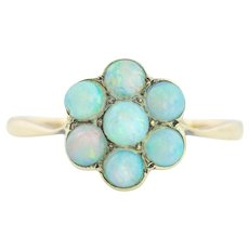 Antique Opal Cluster Ring