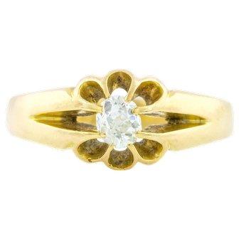 Victorian Diamond Solitaire Ring (0.3ct)