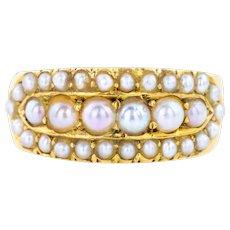 18ct Gold Antique Pearl Ring c.1909