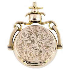 Victorian Locket Fob Pendant in 9ct Rose Gold
