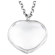 Victorian Rock Crystal Heart Pendant (96ct)