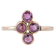 Victorian 9ct Rose Gold Garnet Ring c.1900