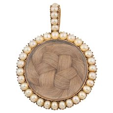 Georgian Pearl Mourning Locket