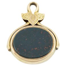 Antique 15ct Gold Swivel Fob Pendant c.1874