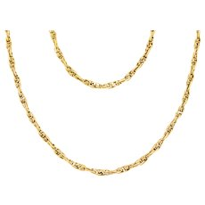 """Victorian 18ct Gold Chain Necklace, 27"""""""