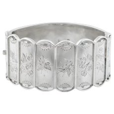 Victorian Aesthetic Silver Bangle c.1876