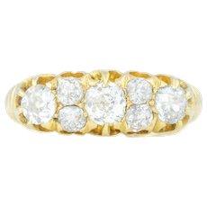 Antique 18ct Gold Diamond Ring (1.22ct) c.1885
