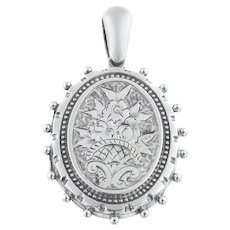 Victorian Aesthetic Silver Locket c.1885