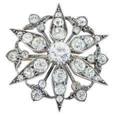 Victorian Paste Star Brooch c.1890