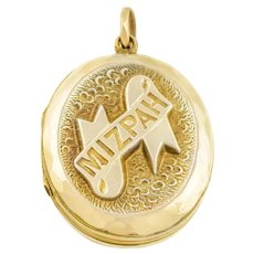 9ct Gold Antique Mizpah Locket