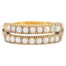 Georgian 18ct Gold Pearl Ring