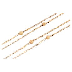 """Victorian 9ct Rose Gold Chain Necklace, 48.8"""" (18.3g)"""