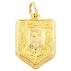 15ct Gold Victorian Shield Locket