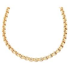 """9ct Gold Victorian Heavy Belcher Chain 27.5"""" (25g)"""