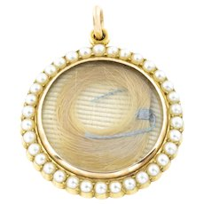 Victorian 15ct Gold Mourning Locket