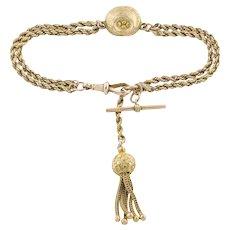 "Victorian Albertina Bracelet, 9ct Yellow Gold, 6.5"" (11.1g)"