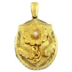 Exquisite Antique 15ct Gold Flower Locket