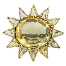 Antique 18ct Gold Citrine Brooch (11.84ct)