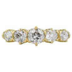 18ct Gold Antique Five Stone Diamond Ring (0.69ct)