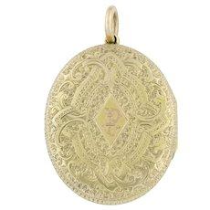 Large 15ct Gold Victorian Locket c.1880