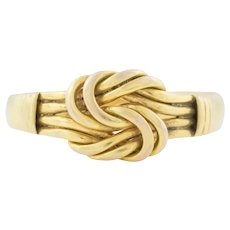 Antique 9ct Gold Knot Ring c.1900