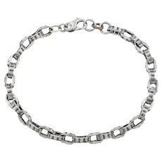 Victorian Silver Chain Bracelet
